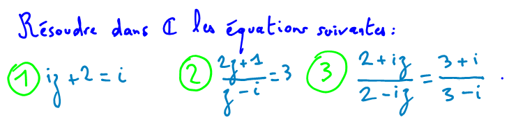 équations nombres complexes