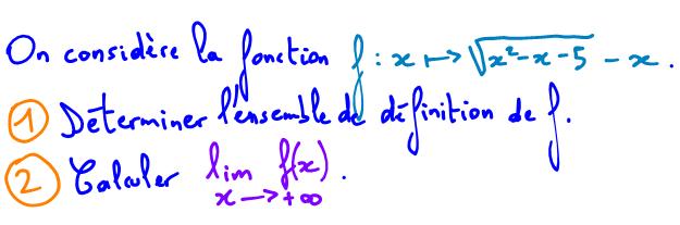 ensemble de définition et calcul de limite