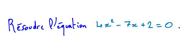 équation du 2nd degré