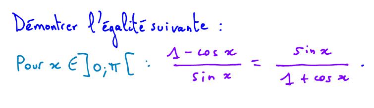 cosinus et sinus