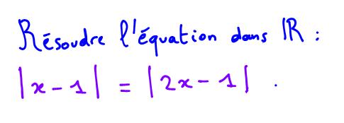équation valeur absolue