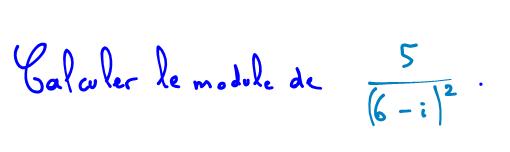 module quotient nombre complexe