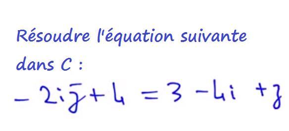 résoudre une équation dans les nombres complexes avec le conjugué de z
