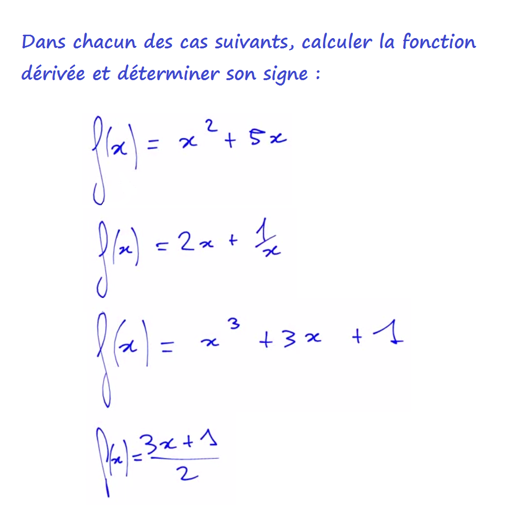 calcul de dérivée