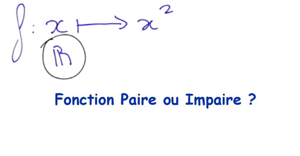 Démontrer qu'une fonction est paire ou impaire