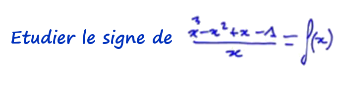 Etude de signe fraction rationnelle