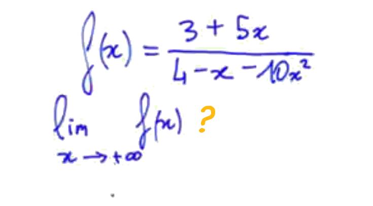 Limite en +l'infini d'une fraction rationnelle