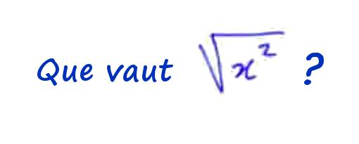 Racine de x au carré