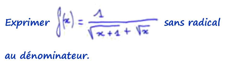 fraction radical