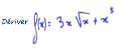 1ère S dériver fonction puissance et racine