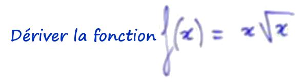 dérivée racine carrée de x
