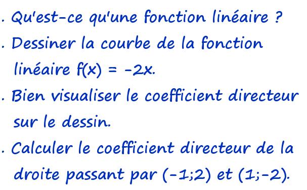 fonction linéaire