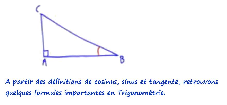 formules trigonometrie