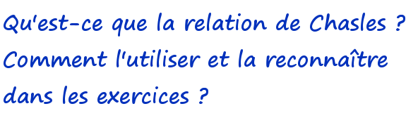 relation de Chasles