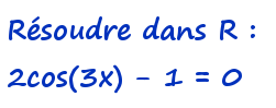 1ère S équation cosinus