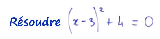 2nde equation un peu spéciale