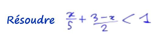 2nde résoudre une inéquation avec fractions